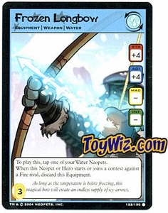 Neopets Hannah and Ice Caves Common Single Card # 122 Frozen Longbow