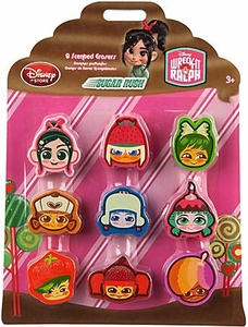 Wreck-It Ralph Movie Exclusive 9-Pack Scented Eraser Set Sugar Rush
