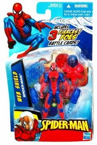 Spider-Man 3.75 Inch Action Figure Web Shield Spider-Man
