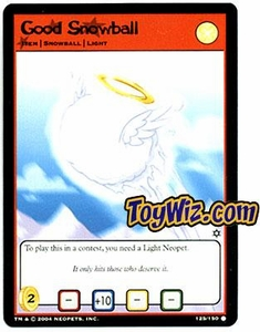 Neopets Hannah and Ice Caves Common Single Card # 125 Good Snowball