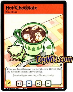 Neopets Hannah and Ice Caves Common Single Card # 127 Hot Chocolate