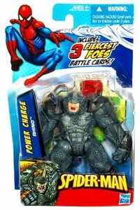 Spider-Man 3.75 Inch Action Figure Power Charge Rhino