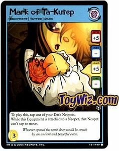 Neopets Hannah and Ice Caves Common Single Card # 131 Mark of Ta-Kutep