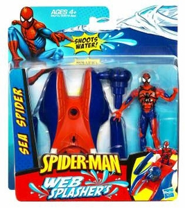 Spider-Man 2010 Water Play Action Figure Spider-Man with Sea Spider