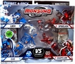 Monsuno Combat 4-Pack Lock, Evo, Spikelash & Snapclaw {Core-Tech VS Eklipse} [4 Figures, 4 Cores & 12 Cards]