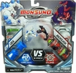 Monsuno Combat 2-Pack Lock {Core-Tech} VS Backslash {Eklipse} [2 Figures, 2 Cores & 6 Cards] BLOWOUT SALE!