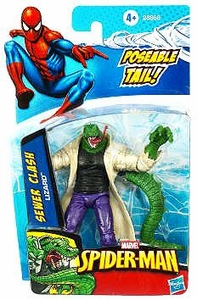 Spider-Man 3.75 Inch Action Figure Sewer Clash Lizard [Poseable Tail!]