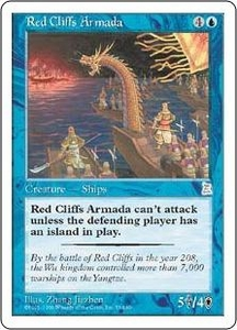 Magic the Gathering Portal Three Kingdoms Single Card Uncommon #51 Red Cliffs Armada