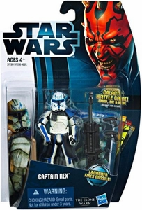 Star Wars 2012 Clone Wars Action Figure #13 Captain Rex [Launcher Fires Missile!]