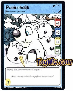Neopets Hannah and Ice Caves Common Single Card # 136 Polarchuck