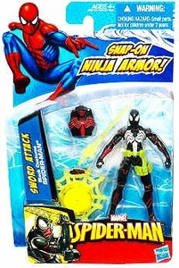 Spider-Man 3.75 Inch Action Figure Sword Attack Black Costume Spider-Man