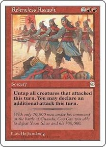 Magic the Gathering Portal Three Kingdoms Single Card Rare #119 Relentless Assault