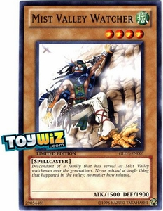 YuGiOh Gold Series 3 2010 Single Card Common GLD3-EN001 Mist Valley Watcher