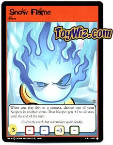 Neopets Hannah and Ice Caves Common Single Card # 141 Snow Flame