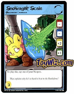 Neopets Hannah and Ice Caves Common Single Card # 143 Snowager Scale