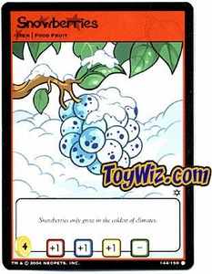Neopets Hannah and Ice Caves Common Single Card # 144 Snowberries