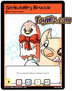 Neopets Hannah and Ice Caves Common Single Card # 146 Strawberry Brucicle