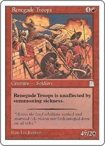 Magic the Gathering Portal Three Kingdoms Single Card Uncommon #120 Renegade Troops