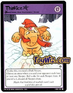 Neopets Hannah and Ice Caves Common Single Card # 148 Thin Ice