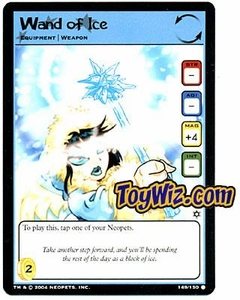 Neopets Hannah and Ice Caves Common Single Card # 149 Wand of Ice