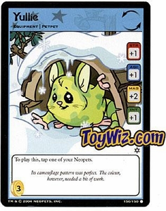 Neopets Hannah and Ice Caves Common Single Card # 150 Yullie