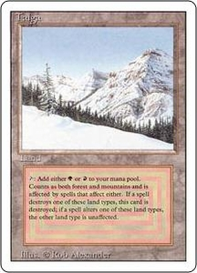 Magic the Gathering Revised Edition Single Card Rare Taiga