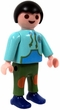 Playmobil LOOSE Mini Figure  Child in Teal Jacket, Green Pants & Blue Shoes [Light Flesh]