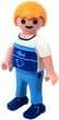Playmobil LOOSE Mini Figure Child in Blue & White Fish Shirt, Blue Shoes [Light Flesh]