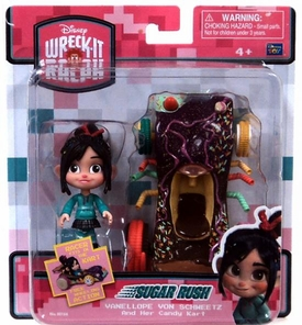 Wreck-It Ralph Movie Sugar Rush Racer Vehicle & Figure Vanellope Von Schweetz & Her Candy Kart