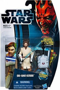 Star Wars 2012 Clone Wars Action Figure #12 Obi-Wan Kenobi [Climbing Action!]