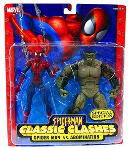 Spider-Man Classic Clashes Exclusive Action Figure 2-Pack Spider-Man vs. Abomination