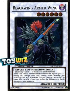 YuGiOh Gold Series 3 2010 Single Card Gold Rare GLD3-EN039 Blackwing Armed Wing