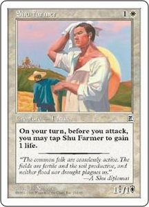 Magic the Gathering Portal Three Kingdoms Single Card Common #23 Shu Farmer