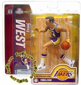 McFarlane Toys NBA Sports Picks Legends Series 2 Action Figure Jerry West (Los Angeles Lakers) Purple Jersey