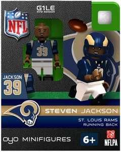 OYO Football NFL Building Brick Minifigure Steven Jackson [St. Louis Rams]