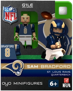 OYO Football NFL Building Brick Minifigure Sam Bradford [St. Louis Rams]