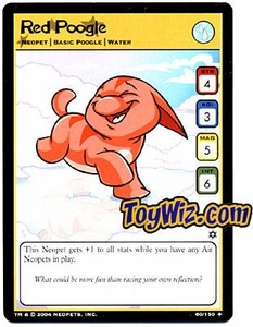 Neopets Hannah and Ice Caves Uncommon Single Card # 60  Red Poogle