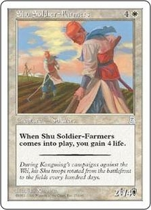 Magic the Gathering Portal Three Kingdoms Single Card Uncommon #27 Shu Soldier-Farmers