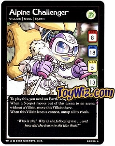 Neopets Hannah and Ice Caves Uncommon Single Card # 63 Alpine Challenger