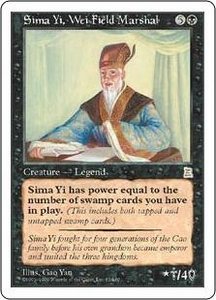 Magic the Gathering Portal Three Kingdoms Single Card Rare #82 Sima Yi, Wei Field Marshal