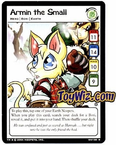 Neopets Hannah and Ice Caves Uncommon Single Card # 64 Armin the Small