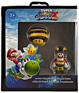Super Mario Galaxy 2 Mini Figurine 2-Pack Bee Mario & Bee Mushroom