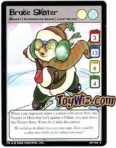 Neopets Hannah and Ice Caves Uncommon Single Card # 67 Bruce Skater