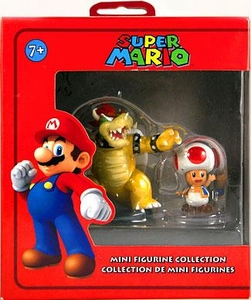 Super Mario Mini Figurine 2-Pack Bowser & Toad