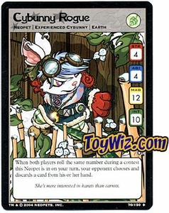 Neopets Hannah and Ice Caves Uncommon Single Card # 70 Cybunny Rogue