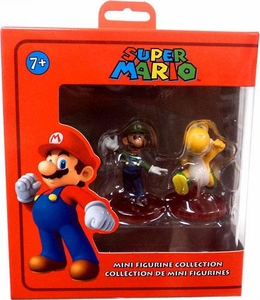 Super Mario Mini Figurine 2-Pack Luigi & Yellow Yoshi