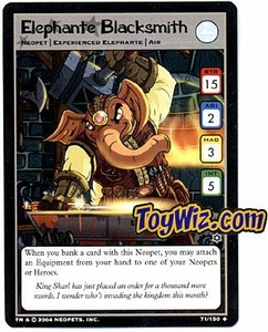 Neopets Hannah and Ice Caves Uncommon Single Card # 71 Elephante Blacksmith
