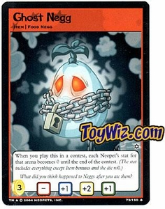 Neopets Hannah and Ice Caves Uncommon Single Card # 73 Ghost Negg
