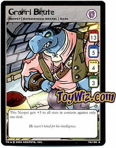Neopets Hannah and Ice Caves Uncommon Single Card # 74 Grarrl Brute