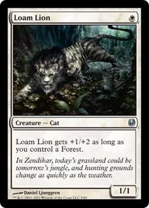 Magic the Gathering Duel Decks: Ajani vs. Nicol Bolas Single Card White Uncommon #5 Loam Lion